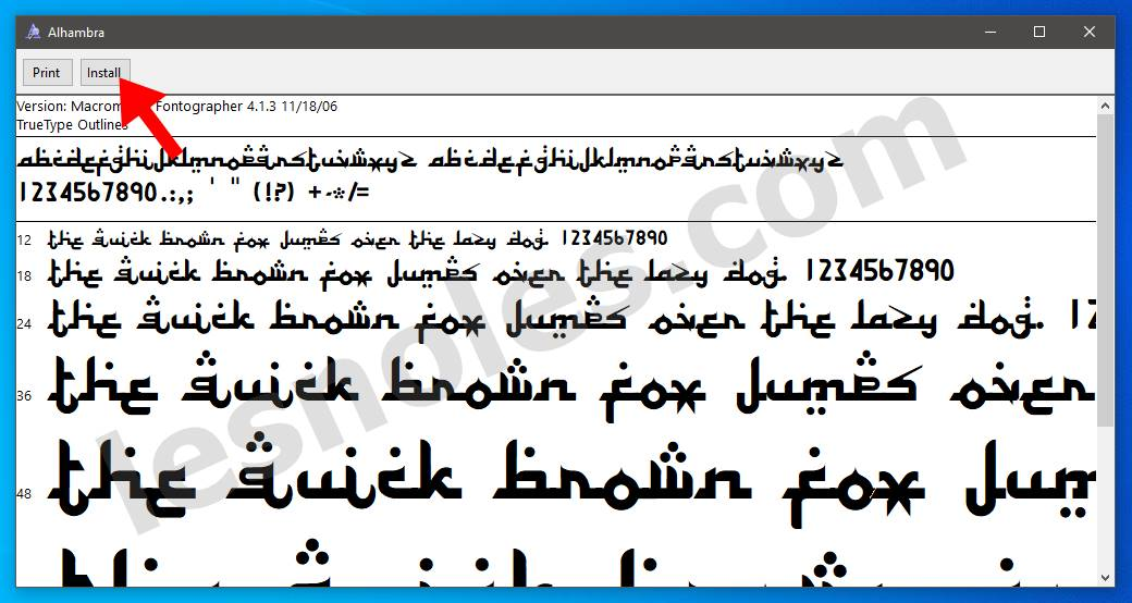 Cara Mudah Menambah Font Baru Ke Laptop/Komputer Windows 7, 8 dan 10