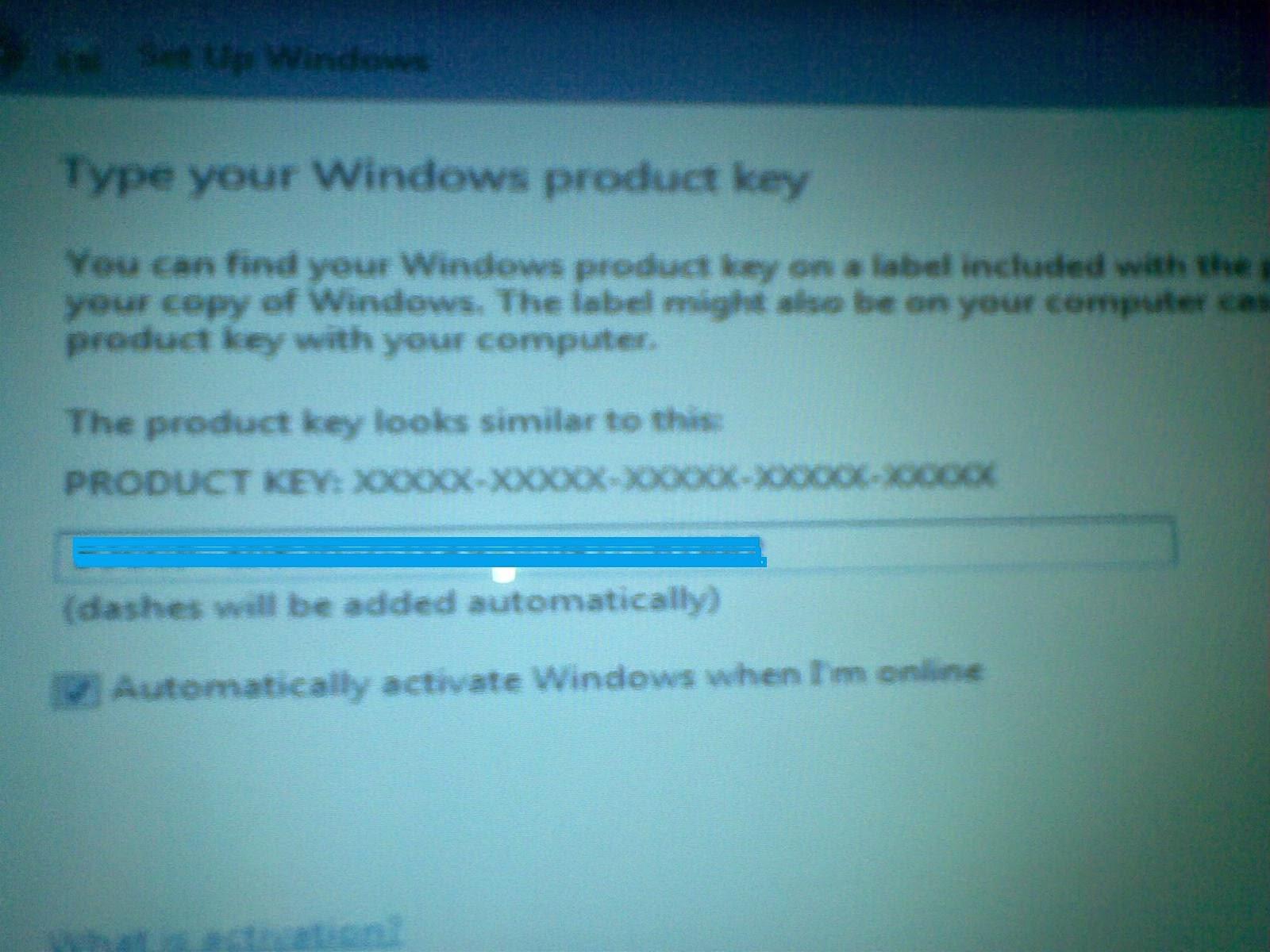 product key windows ori