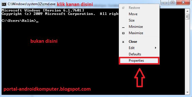 cmd properties