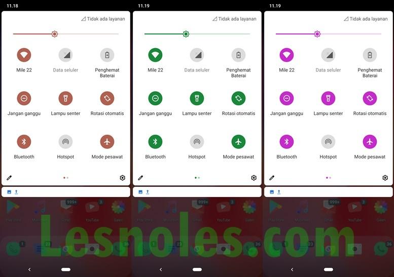Cara Mudah Ubah Warna Aksen Sistem di Android 10 - LesNoles