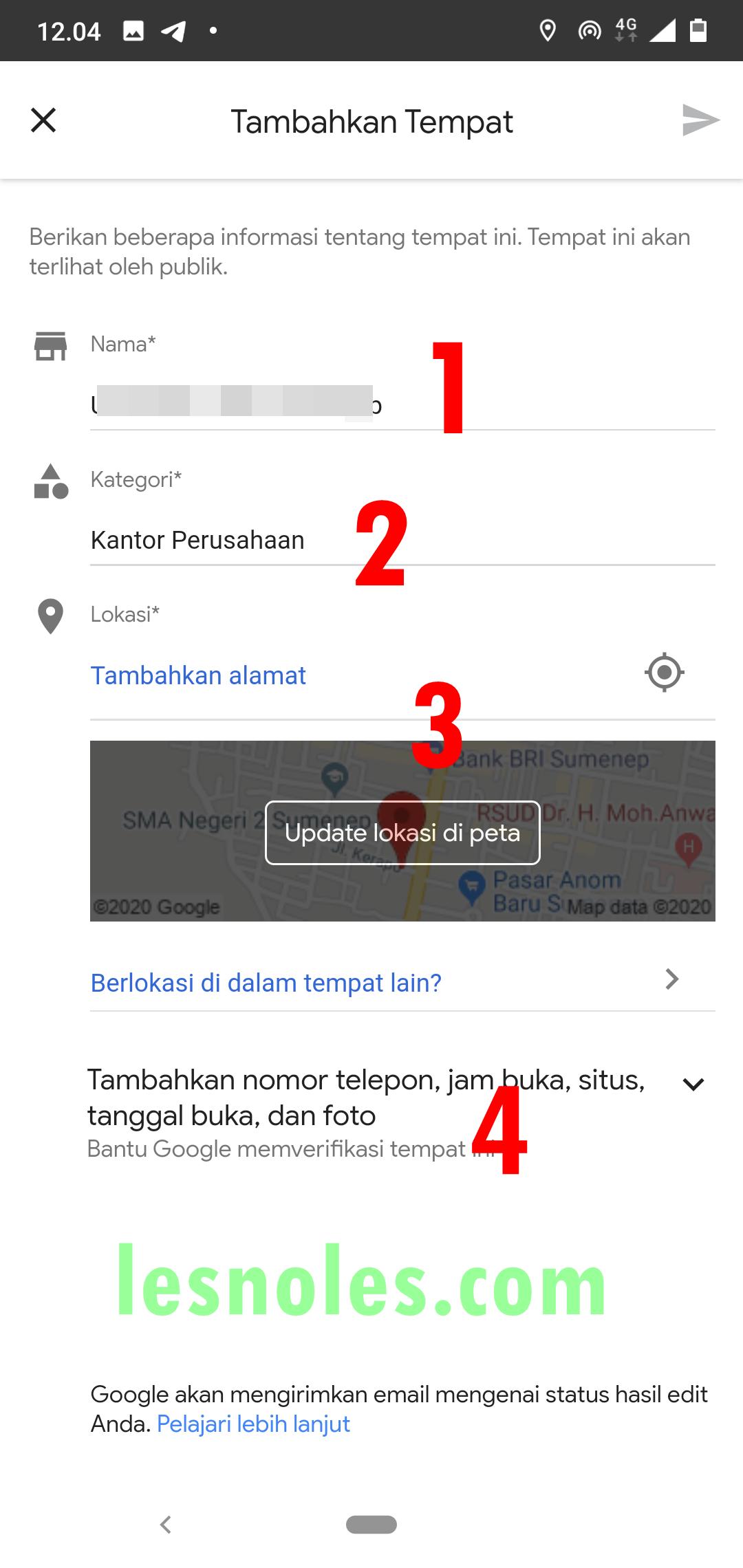 Cara Cepat Tambah Lokasi Di Google Maps Untuk Bisnis Kamu Update 2020 Lesnoles