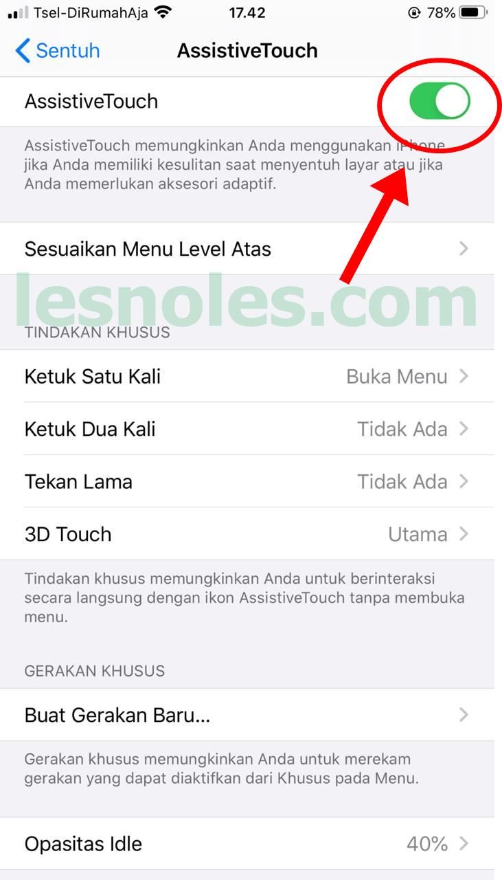 Cara Mudah Aktifkan Tombol Bola Bantu (AssistiveTouch) di Iphone