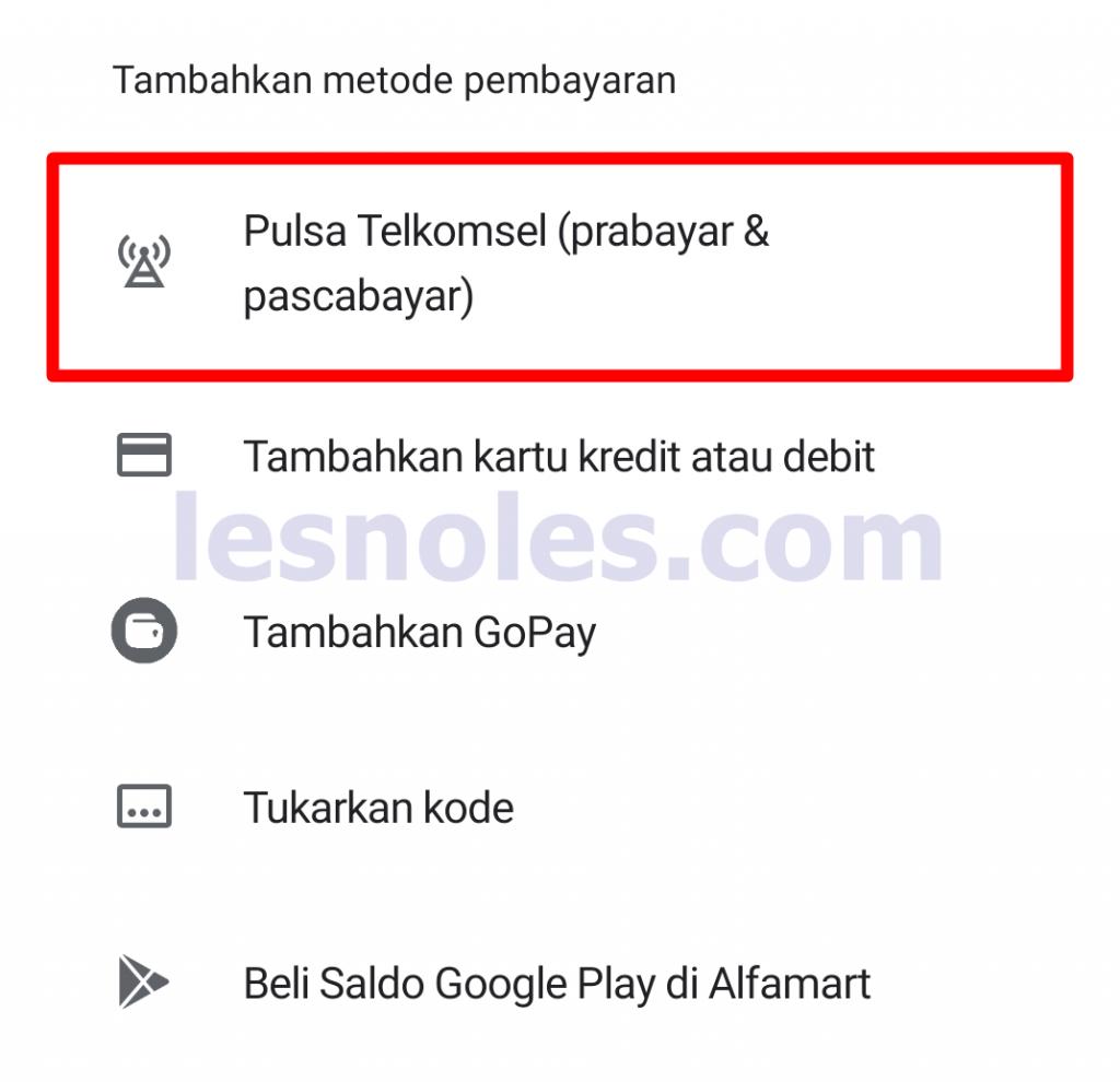 Cara Mudah Tambahkan Metode Pembayaran Telkomsel di PlayStore