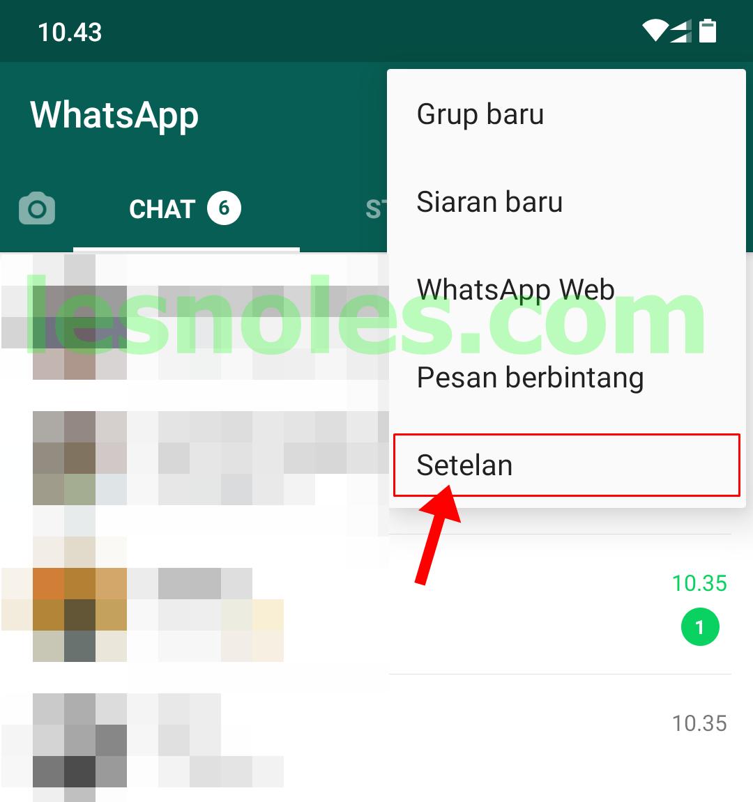 whatsapp setelan