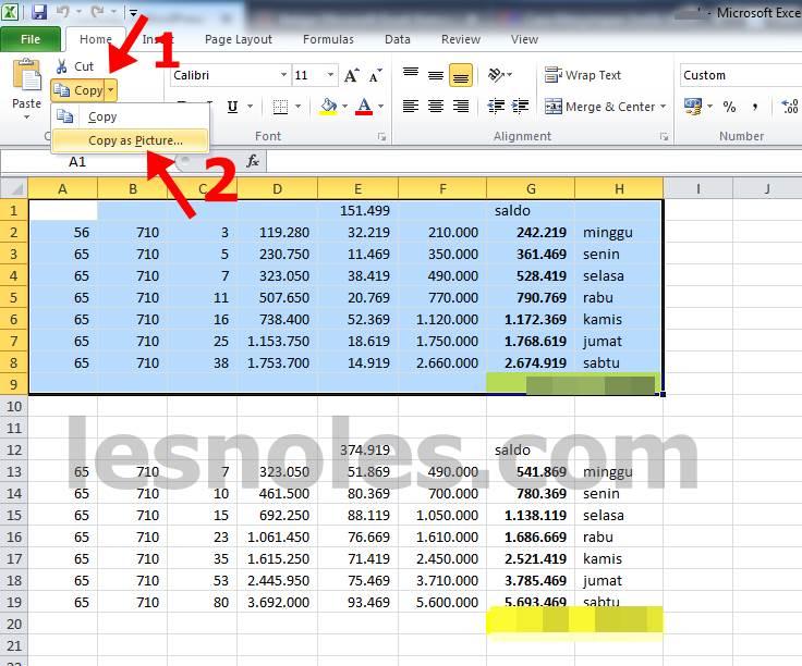 Cara Termudah Konversi Excel Menjadi Format Gambar/Image dengan Kualitas Bagus