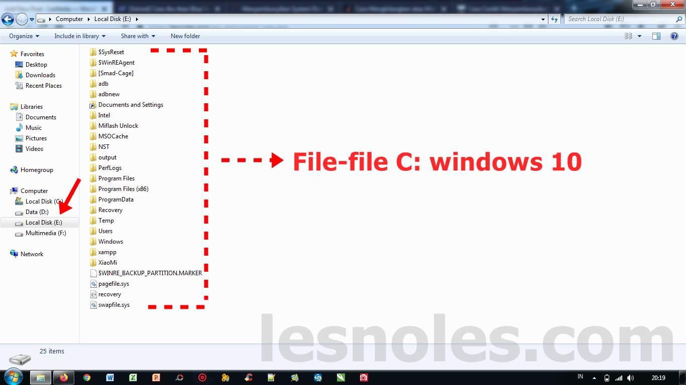 Cara Sembunyikan Partisi C: Windows 10 yang Nongol di Windows 7