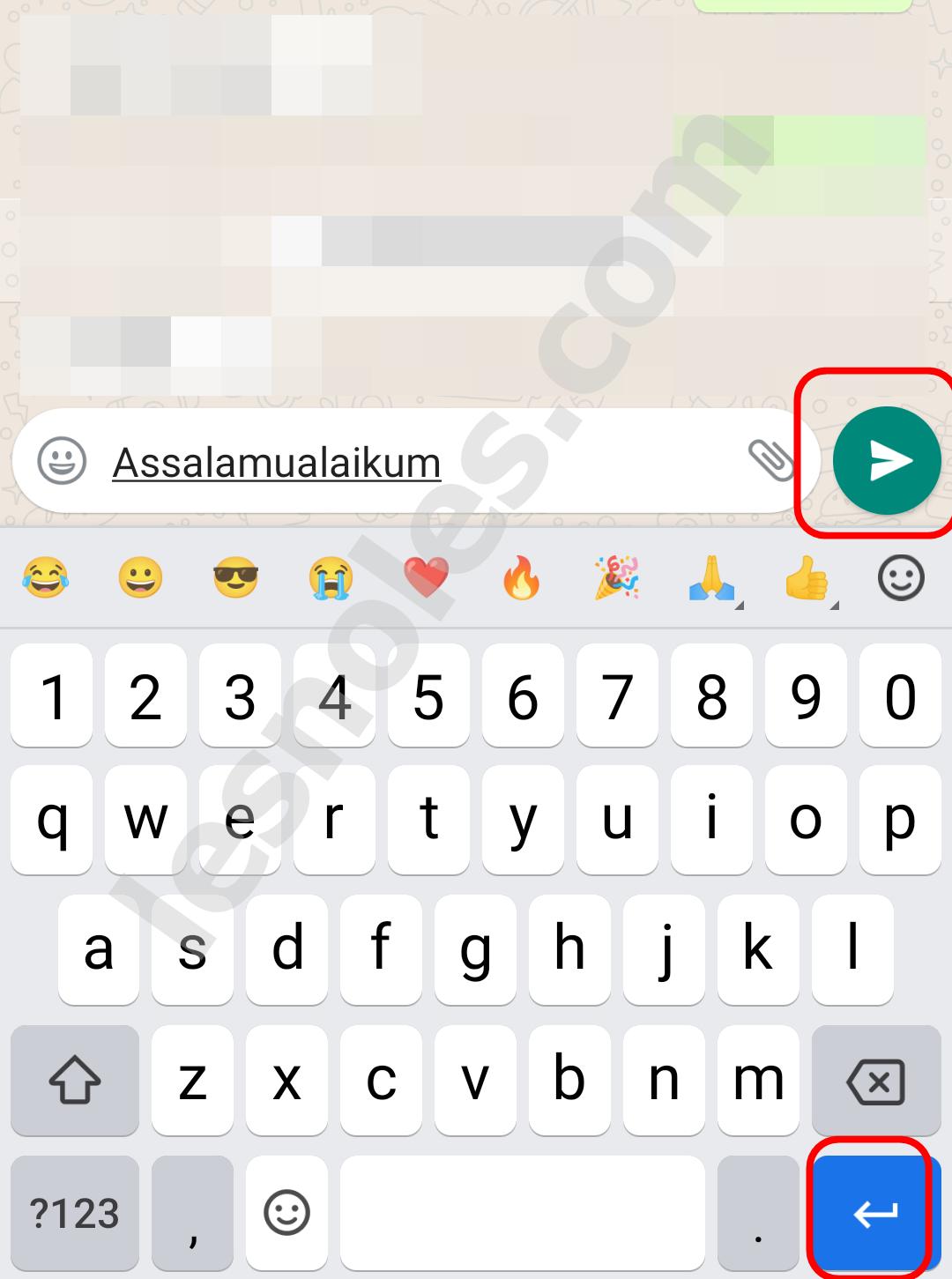 Cara Nonaktifkan Tombol Enter yang Langsung Terkirim di Pesan WhatsApp