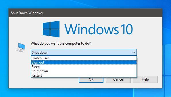 Beberapa Cara Sign Out/Keluar Akun di Windows 10