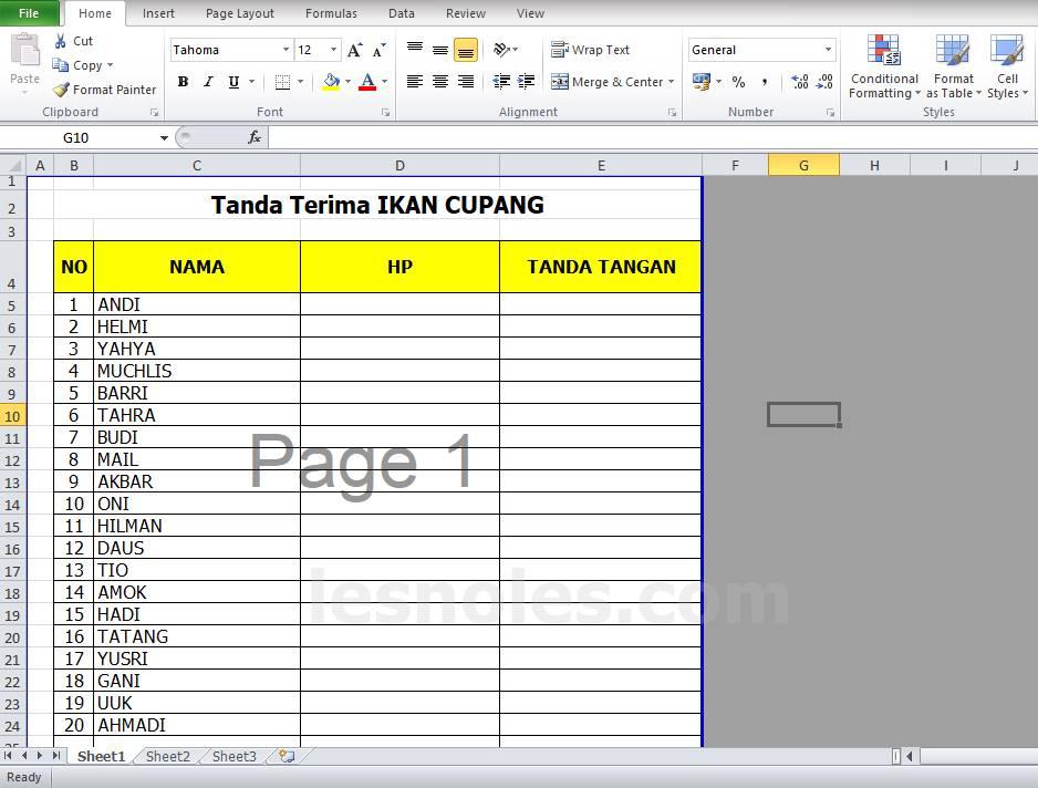 Cara Menyamakan Ukuran Tinggi Baris dan Lebar Kolom di Excel