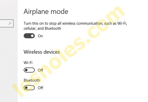 Cara Mudah Mengaktifkan Air Plane Mode/Mode Pesawat di Windows 10