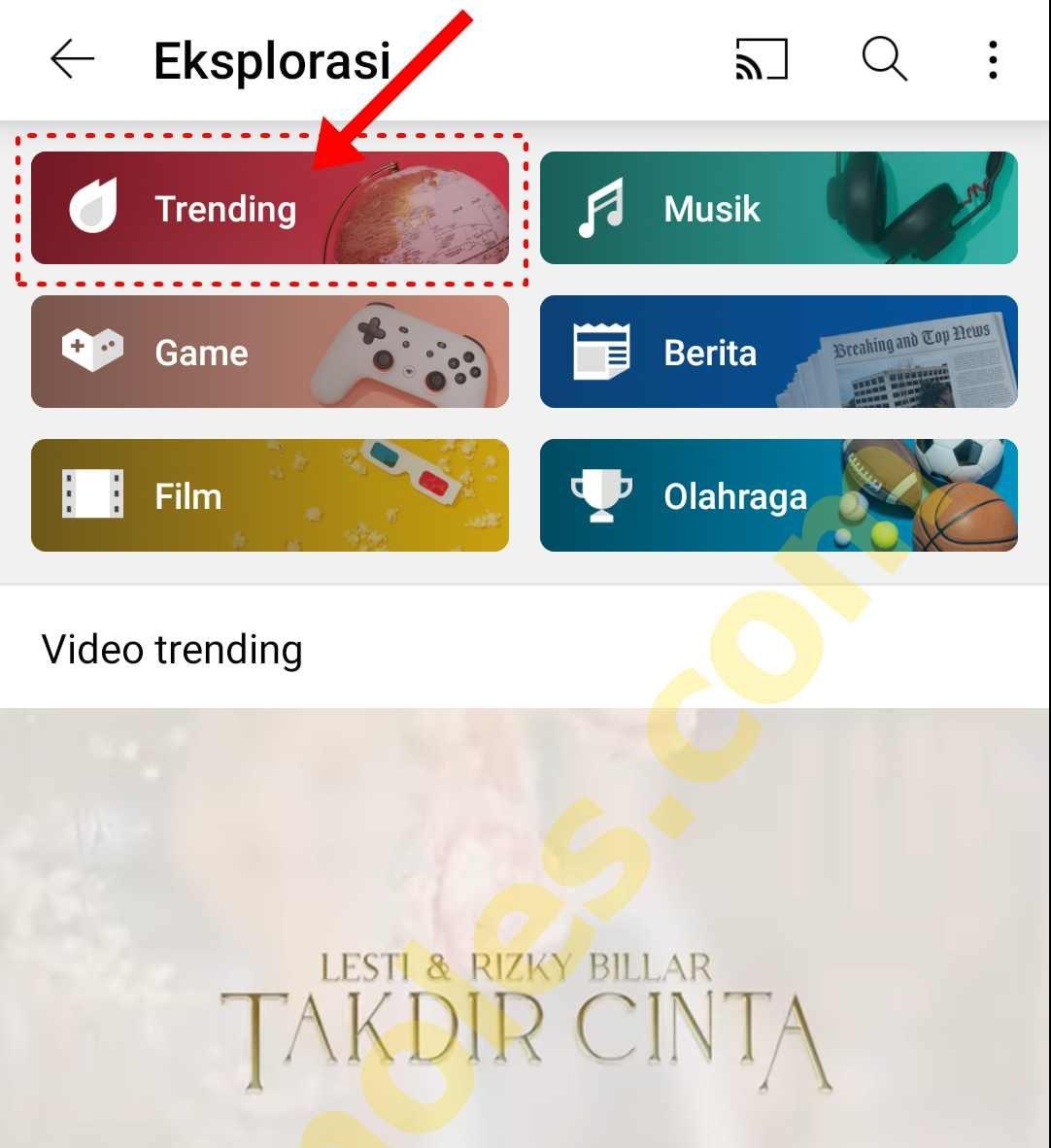 """Cara Mudah Menampilkan/Melihat Menu """"Trending"""" di Youtube Terbaru"""